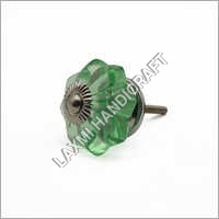Green Glass Melon Drawer Knobs