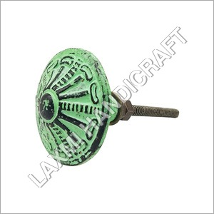 Green Antique Round Drawer Knob