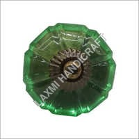 Green Melon Antique Glass Drawer Knob