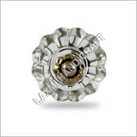 Flower Shape Clear Glass Drawer Knob