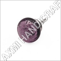 Purple Bubble Glass Knob