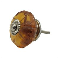 Brown Glass Melon Door Knob
