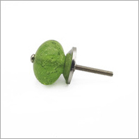 Green Melon Antique Glass Drawer Knob