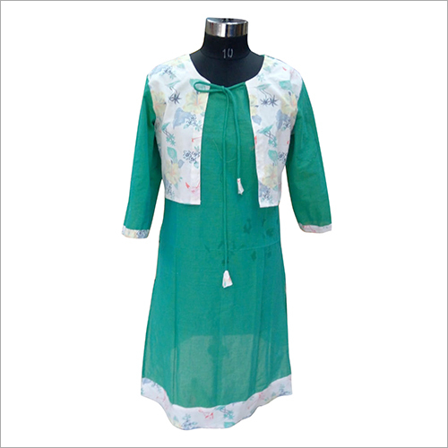 Ladies Cotton Waist Coat Kurti