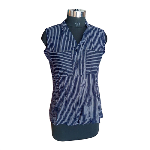 Ladies Rayon Striped Top