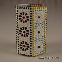 Long Box Shape Glass Candle Holder