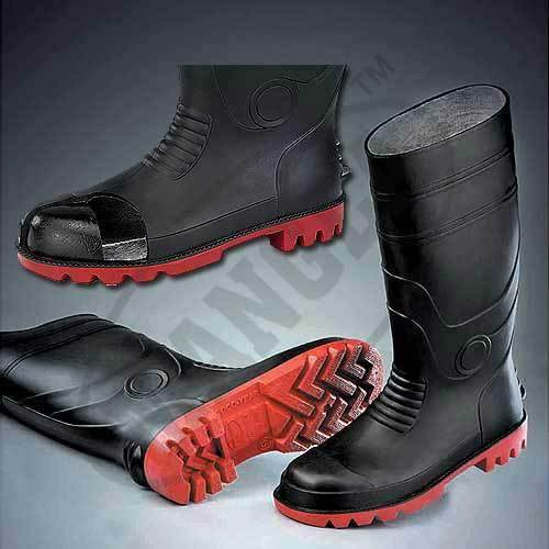 Black Steel Toe Cap Gumboots