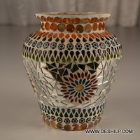 Glass Mosaic Flower Vase