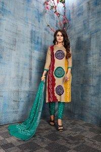 Satin Cotton dress material