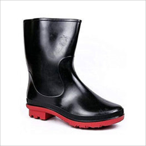 Mens Plain Black Gumboots