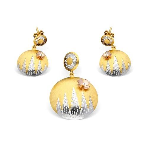 Italian Gold Pendant Set