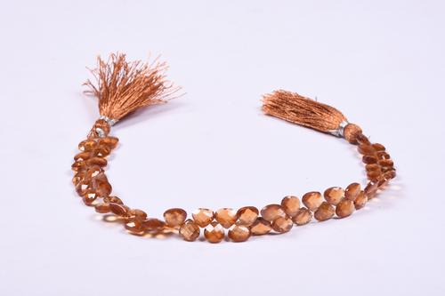 Natural Brown Hessonite Garnet Briolette Beads