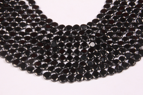 Natural Black Spinel Briolette Beads