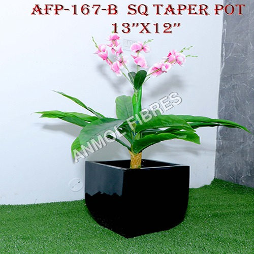 Square Taper Pot 13x12 inches