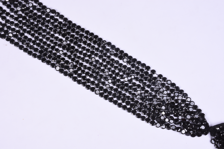 Natural Black Spinel Briolette Beads
