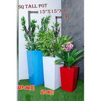 Square Tall Pot 15x15x36x30 Inches