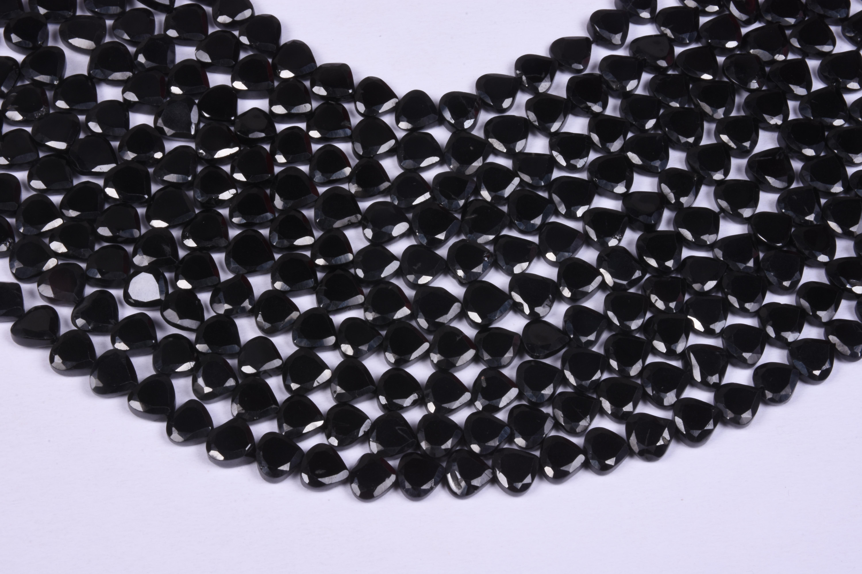 Black Spinel Briolette Beads