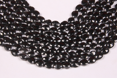 Black Spinel Pears Briolette Beads