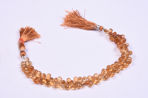 Hessonite Garnet Briolette Beads