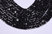 Black Spinel Briolette Square Beads