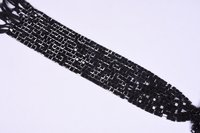Black Spinel Briolette Square Beads