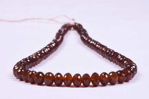 Hessonite Garnet Briolette Roundel Beads