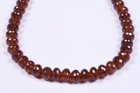 Hessonite Garnet Briolette Roundel Beads