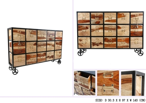 15 DRAWER CHEST WITH IRON FRAME