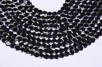 Black Spinel Briolette Hexagon Beads