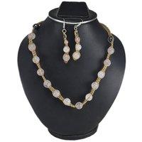 Handmade Jewelry Manufacturer Rose Quartz & Hematite Round Gemstone Jaipur Rajasthan India Necklace & Sterling Silver Earring Jewelry Set