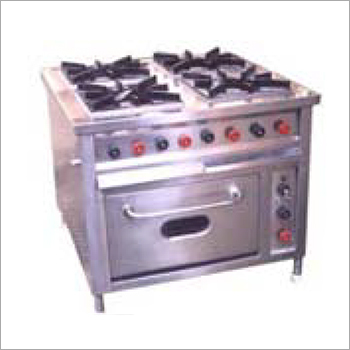 Commercial SS 4 Burner Gas Range