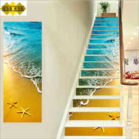 3D Beautiful Beach Stair Tiles