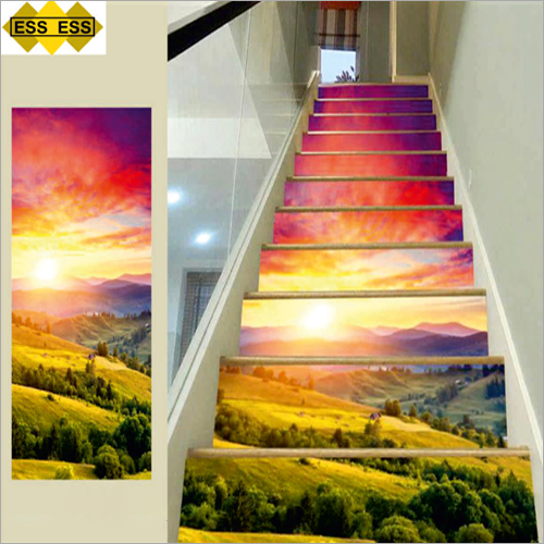 3D Colourful Sunset Stair Tiles