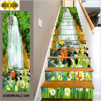 3D Brown Falls Stair Tiles
