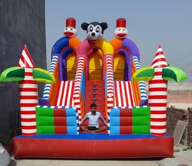 Mickey Mouse Sliding Bouncy Castle