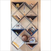 Wall Mounted Stainless Steel Designer Rack Fabrication Service
