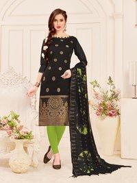 Jacquard Banarasi Dress With Banarasi Dupatta