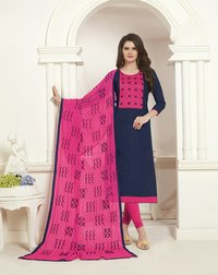 Designer Cotton Jacquard Dress Material