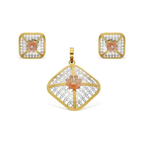 Square In Shape Pendant Set