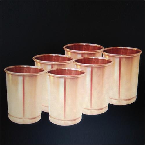 6 Pcs Copper  Tumbler Set
