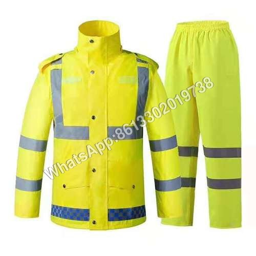 Police Reflective 300D Oxford Duty Raincoat