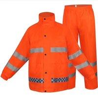 Police Reflective 300D Oxford Duty Raincoat