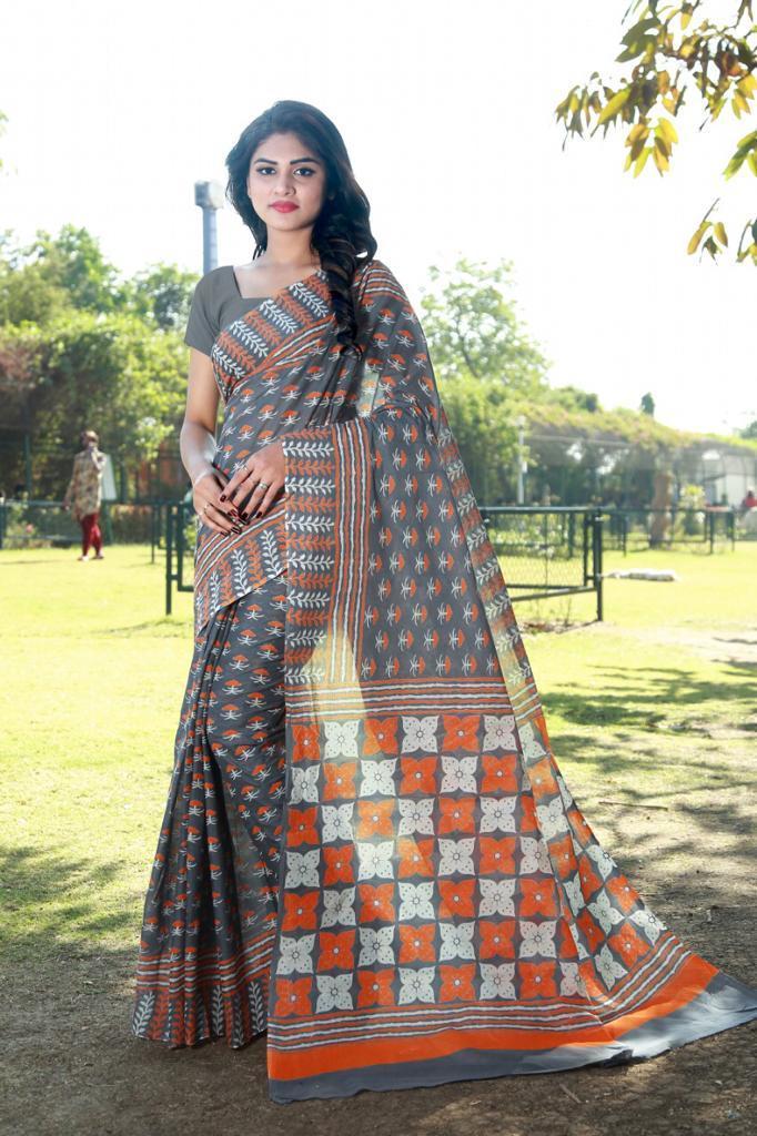 Printed Handloom Pure Cotton Saree
