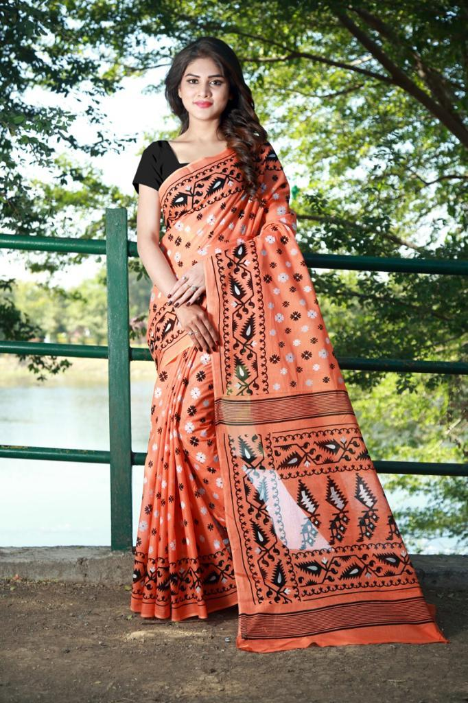 Printed Handloom Pure Cotton Saree