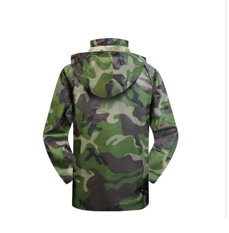 Military Polyester Oxford Nylon Raincoat
