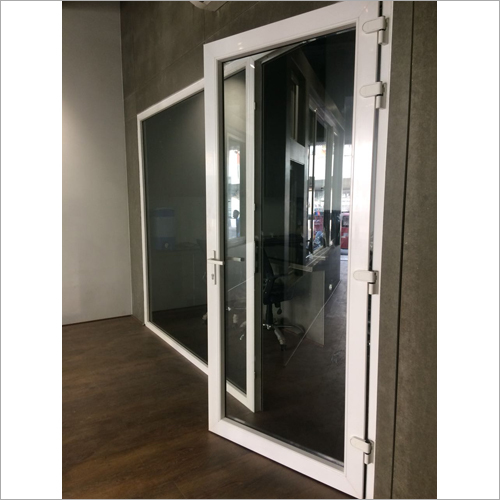 White UPVC Casement Door