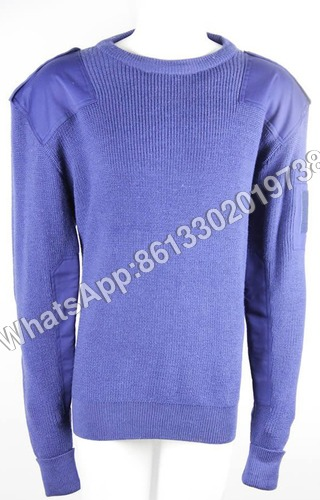 100% Wool Royal Blue Army Sweater