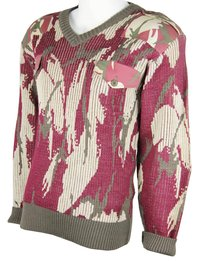 Army Camouflage Wool Pullover