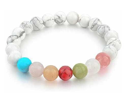 Hawolite With 7 Chakra Bracelet