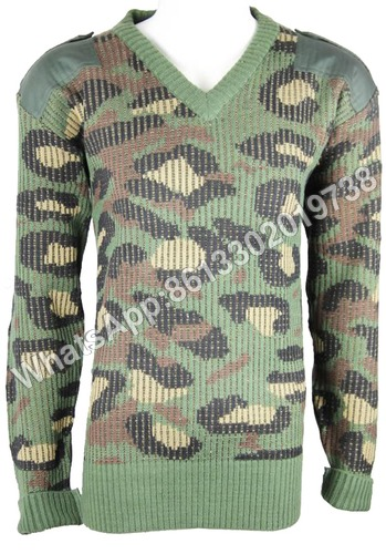 Military Camouflage Wool Pullover